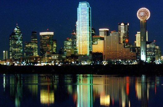 Nighttime Skyline of Dallas, Texas